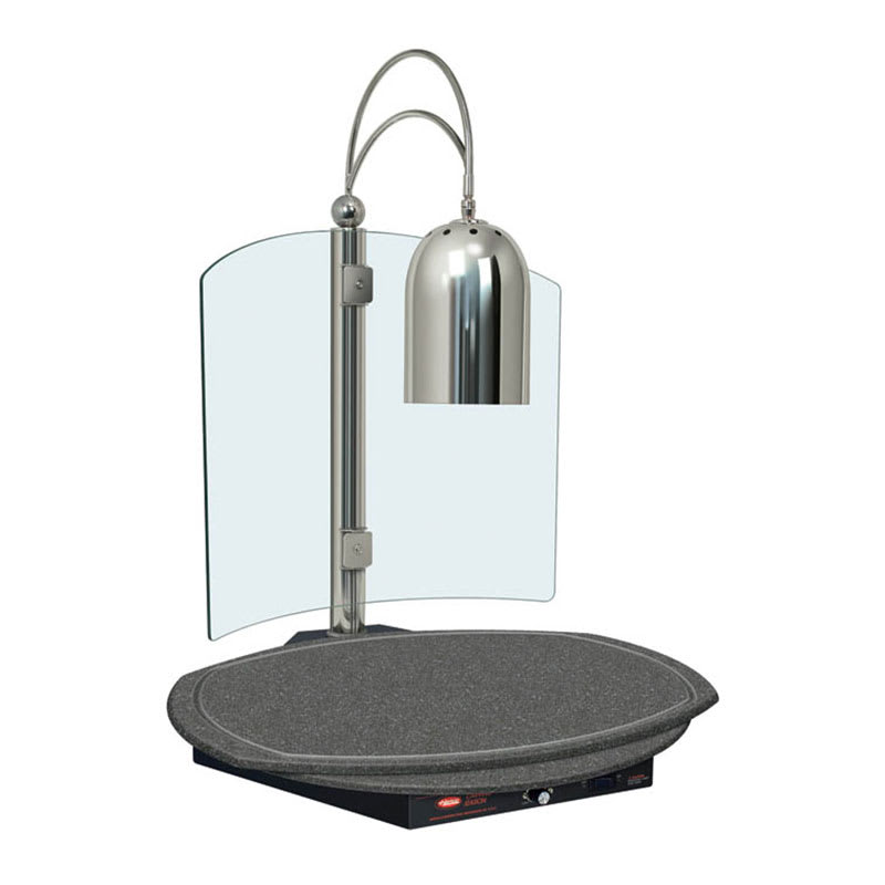 """Hatco DCSB400-R24-1 Carving Station w/ Single Heat Lamp, 26"""" Round Cutting Board"""