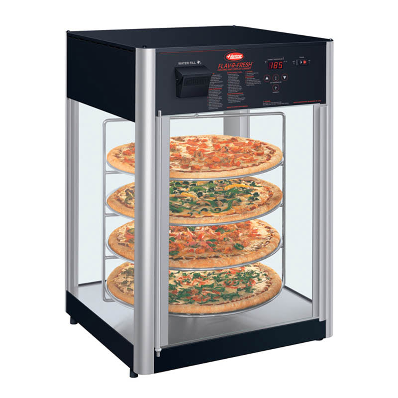 Hatco FDWD-2 Holding Display Cabinet w/ 2-Door & Revolving Circular Rack