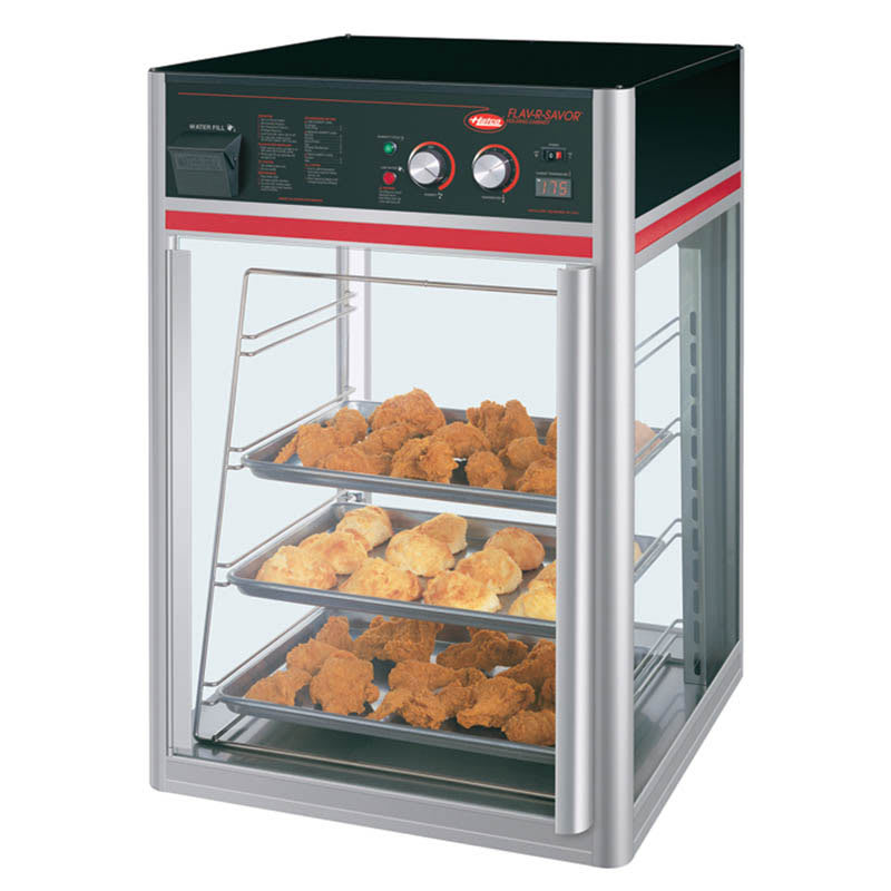 "Hatco FSDT-1X 22.42"" Heated Pizza Merchandiser w/ 4 Levels, 120v"