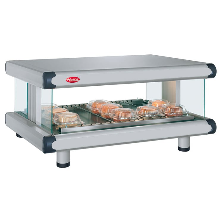 "Hatco GR2SDH-24 30.25"" Self-Service Countertop Heated Display Shelf - (1) Shelf, 120v"