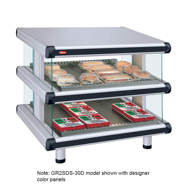 "Hatco GR2SDS-24D 30.25"" Self-Service Countertop Heated Display Shelf - (2) Shelves, 120v"