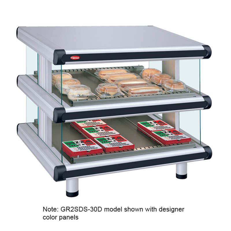 "Hatco GR2SDS-30D 36.25"" Self-Service Countertop Heated Display Shelf - (2) Shelves, 208v/1ph"