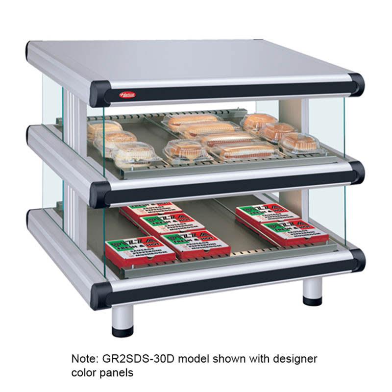 "Hatco GR2SDS-36D 42.25"" Self-Service Countertop Heated Display Shelf - (2) Shelves, 240v/1ph"