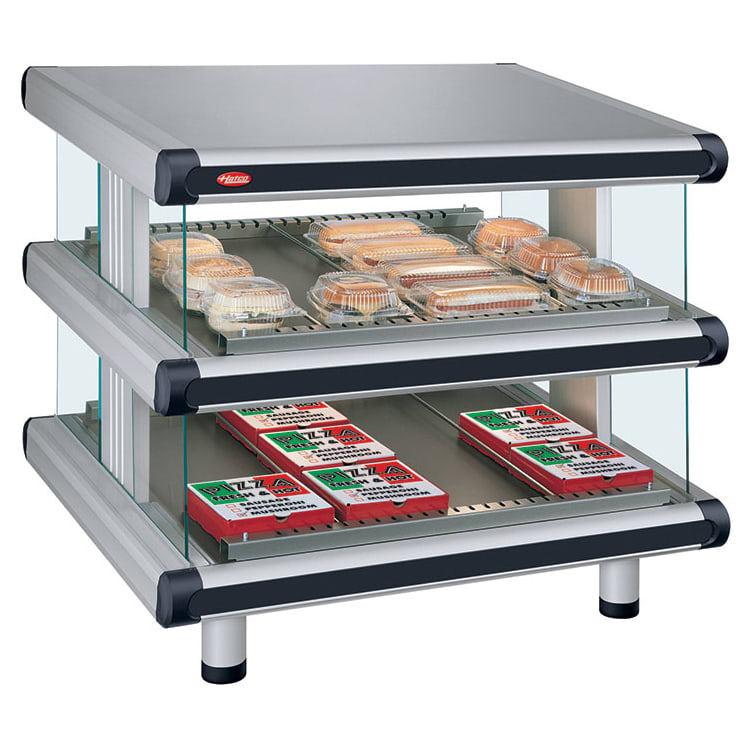 "Hatco GR2SDS-42D 48.25"" Self-Service Countertop Heated Display Shelf - (2) Shelves, 240v/1ph"