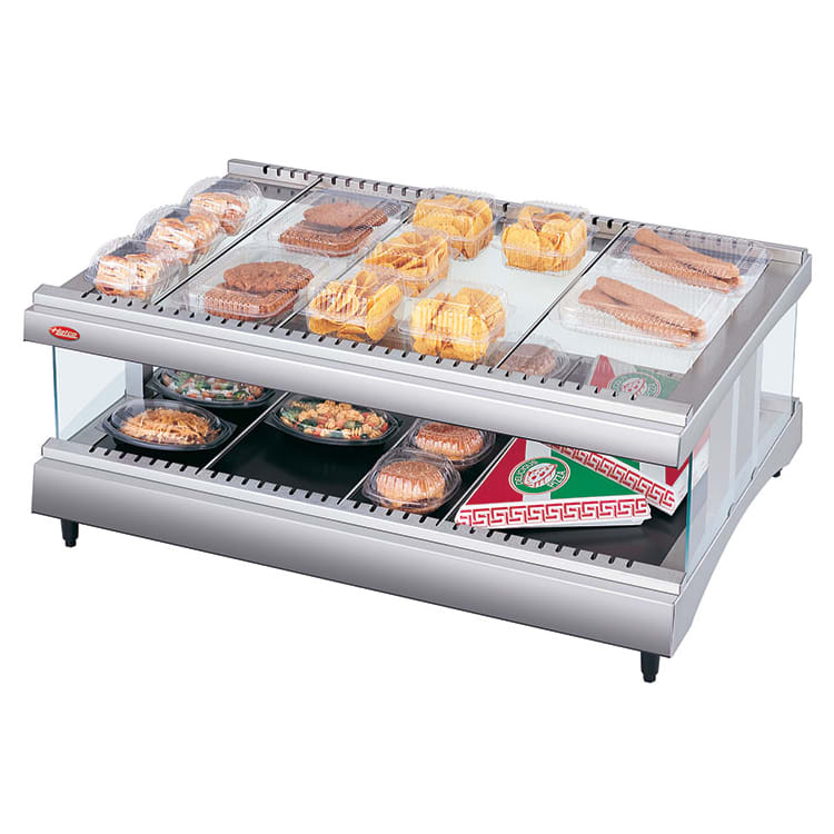"Hatco GR3SDH-27 27.18"" Self-Service Countertop Heated Display Shelf - (2) Shelves, 120v"