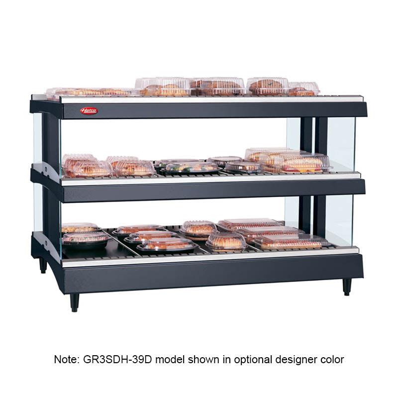 "Hatco GR3SDH-27D 27.18"" Self-Service Countertop Heated Display Shelf - (3) Shelves, 120v"
