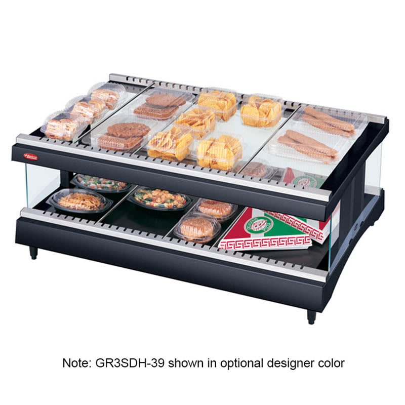 "Hatco GR3SDH-33 33.18"" Self-Service Countertop Heated Display Shelf - (2) Shelves, 120v"