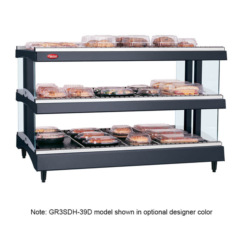 "Hatco GR3SDH-33D 33.18"" Self-Service Countertop Heated Display Shelf - (3) Shelves, 208v/1ph"