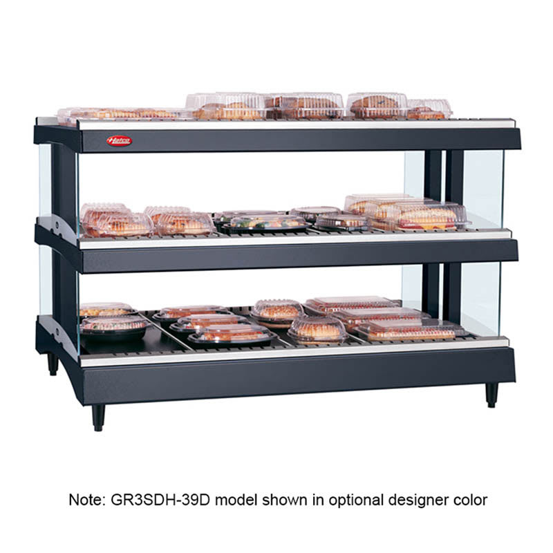 "Hatco GR3SDH-33D 33.18"" Self-Service Countertop Heated Display Shelf - (3) Shelves, 240v/1ph"