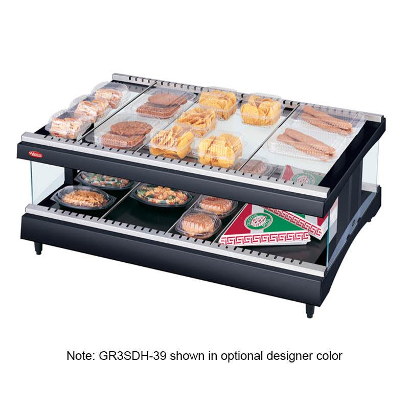"Hatco GR3SDH-39 39.18"" Self-Service Countertop Heated Display Shelf - (2) Shelves, 120v"