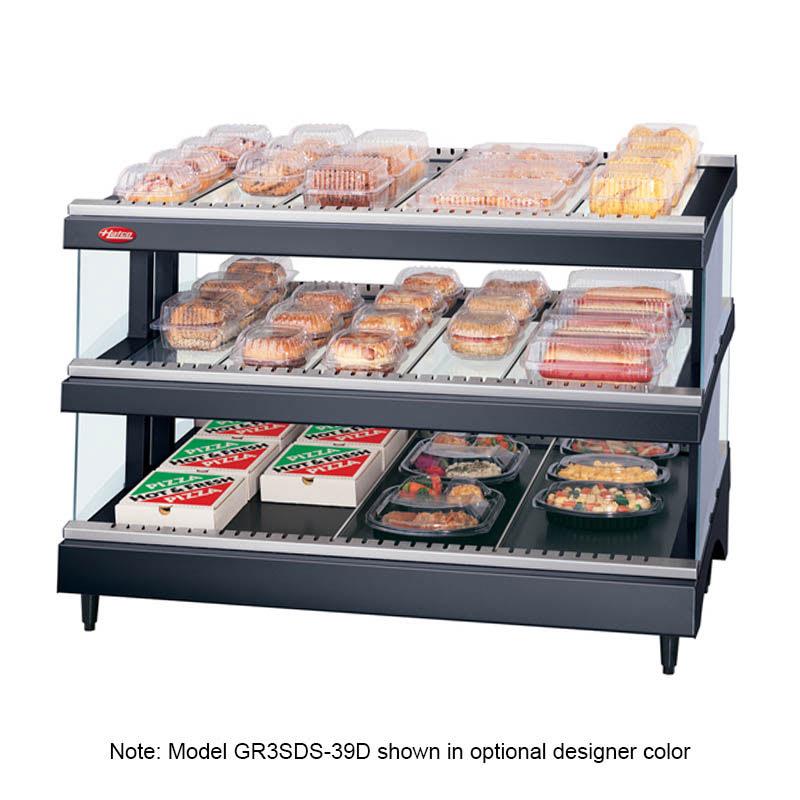 "Hatco GR3SDS-27D 27.18"" Self-Service Countertop Heated Display Shelf - (3) Shelves, 120v"