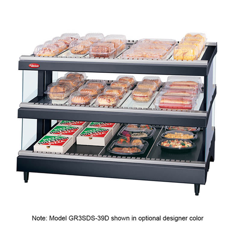 "Hatco GR3SDS-39D 39.18"" Self-Service Countertop Heated Display Shelf - (3) Shelves, 240v/1ph"
