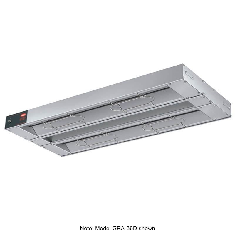 """Hatco GRA-132D3 132"""" Infrared Foodwarmer, Dual w/ 3"""" Spacing, 120 V"""