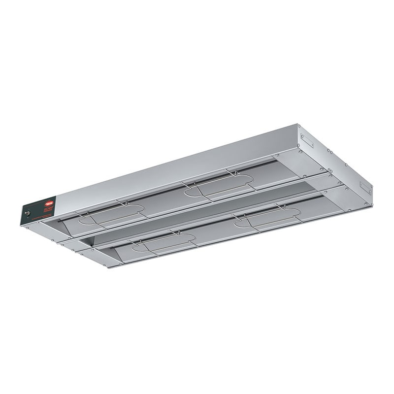 "Hatco GRAHL-108D6 108"" Foodwarmer, Dual w/ 6"" Space, High Watt & Lights, 208v/1ph"