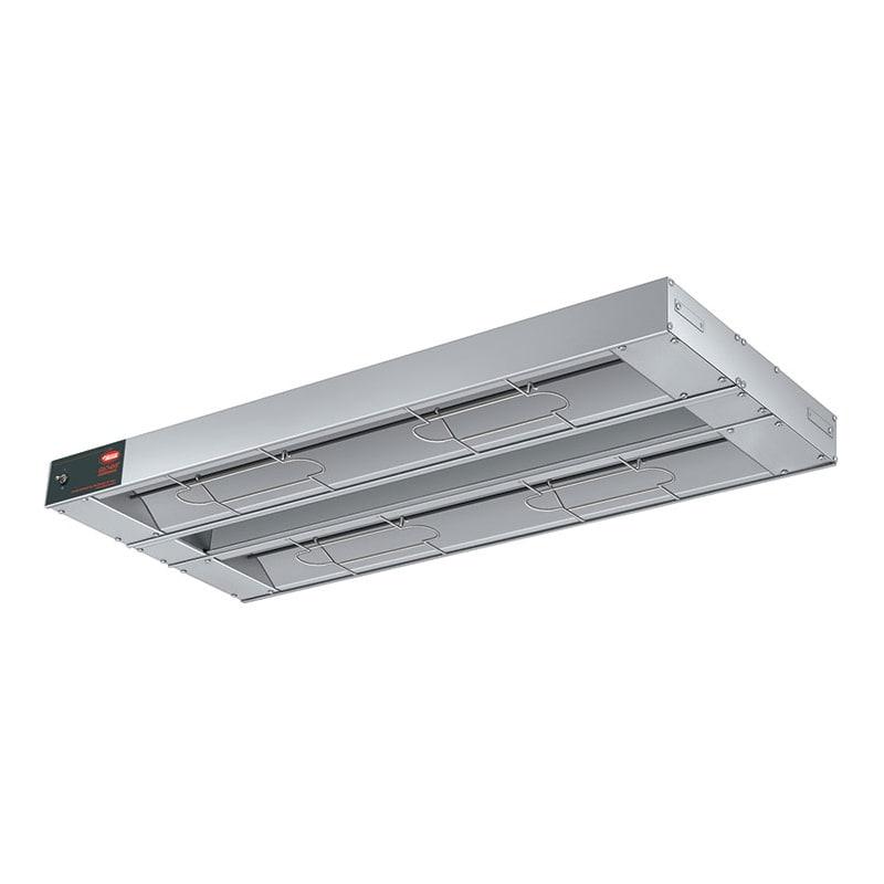 "Hatco GRAHL-132D6 132"" Foodwarmer, Dual w/ 6"" Space, High Watt & Lights, 208 V"