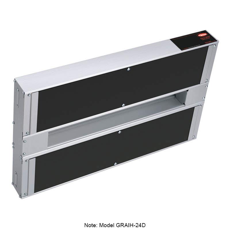 "Hatco GRAIH-24D3 24"" Infrablack Foodwarmer, Dual w/ 3"" Space & High Watt, 120 V"