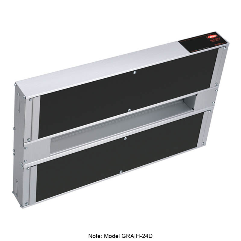 "Hatco GRAIH-42D6 42"" Infrablack Foodwarmer, Dual w/ 6"" Space & High Watt, 208 V"