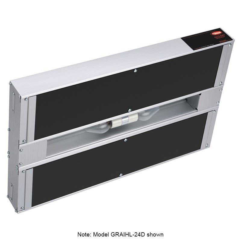 "Hatco GRAIHL-18D6 18"" Infrablack Foodwarmer, Dual, 6"" Space, Light, High Watt, 208v/1ph"