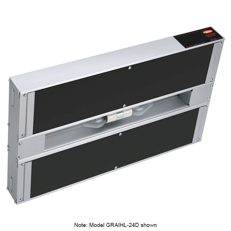 "Hatco GRAIHL-36D6 36"" Infrablack Foodwarmer, Dual, 6"" Space, Light, High Watt, 208"