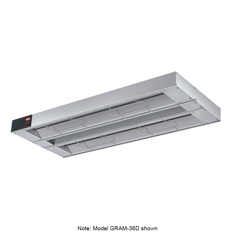 "Hatco GRAM-96D-6 96"" Foodwarmer, Dual w/ 6"" Spacing, Max Watt, 208 V"