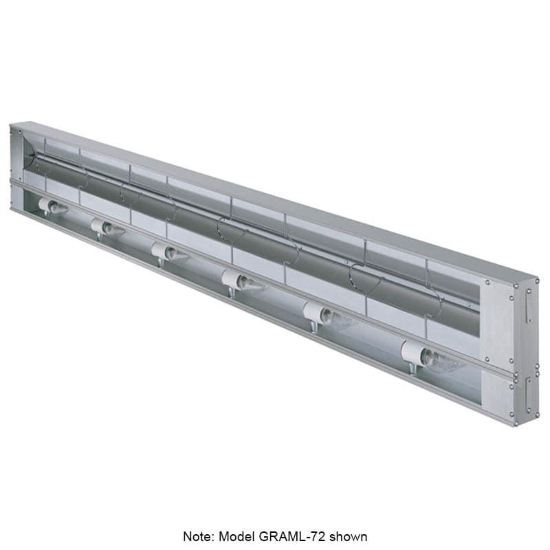 Hatco GRAML-72 Infrared Foodwarmer w/ Tubular Metal Heater Rod, Aluminum, 2435 watts