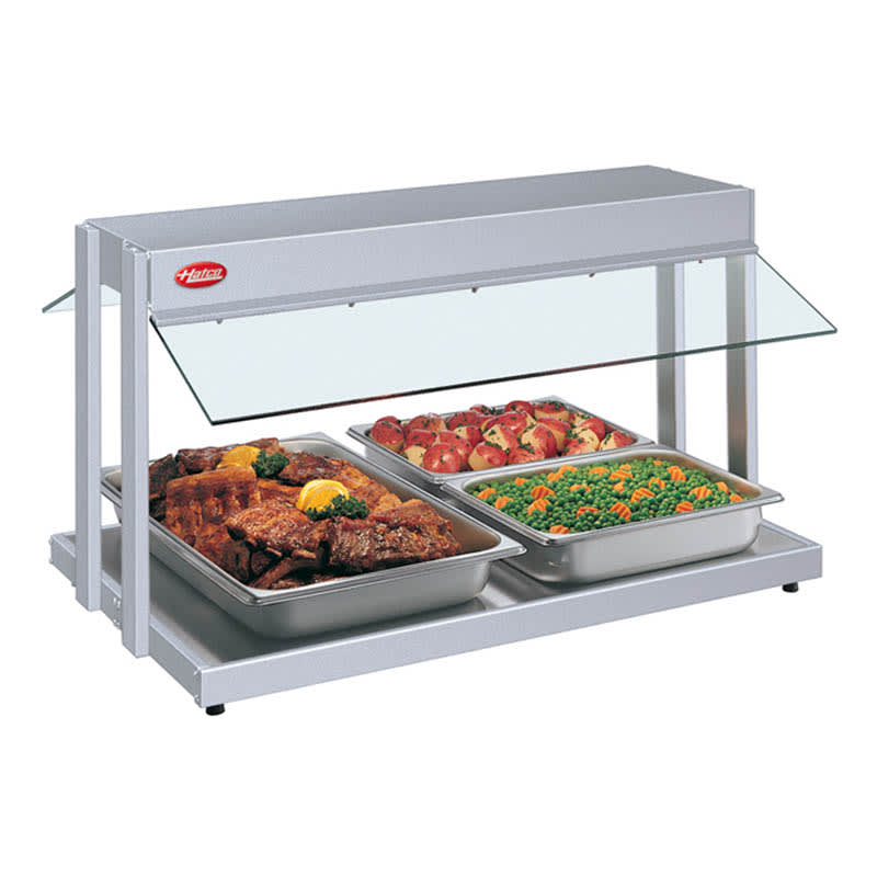 "Hatco GRBW-30 31 1/8"" Buffet Warmer, Sneeze Guards, Light & Heated Base, 208v/1ph"