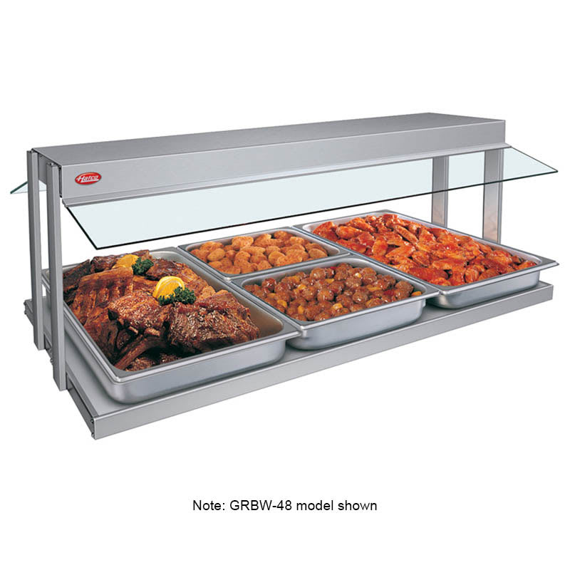 "Hatco GRBW-42 43-1/8"" Buffet Warmer, Sneeze Guards, Light & Heated Base, 208 V"