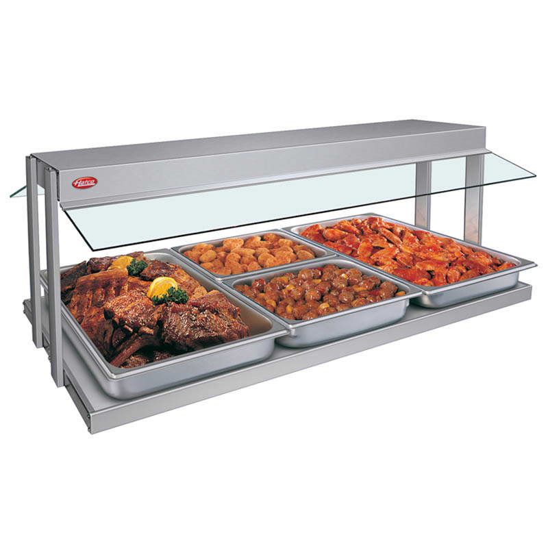 "Hatco GRBW-48 49 1/8"" Buffet Warmer, Sneeze Guards, Light & Heated Base, 208v"