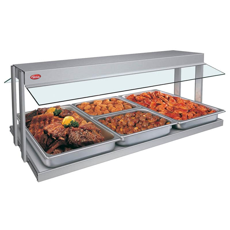 "Hatco GRBW-48 49-1/8"" Buffet Warmer, Sneeze Guards, Light & Heated Base, 240 V"