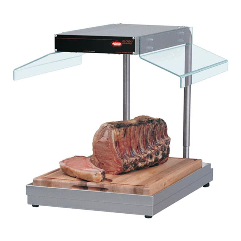 Hatco GRCSCL-24 Carving Station W/Heat Lamps, Right Side Breath Protector, Heated Base, 990W