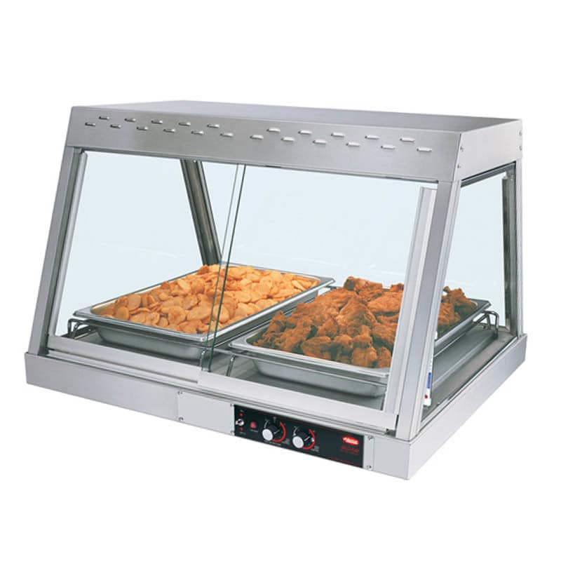 "Hatco GRHD-2P 32.5"" Full-Service Countertop Heated Display Case w/ Straight Glass - (1) Level, 120v"