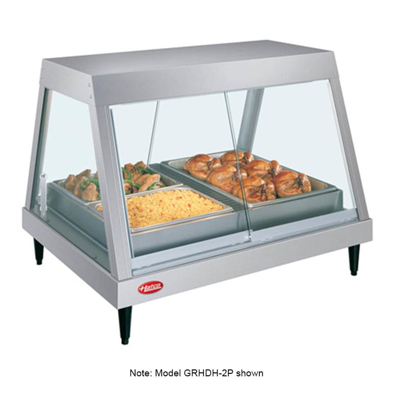 "Hatco GRHDH-3P 45.5"" Full-Service Countertop Heated Display Case w/ Straight Glass - (1) Level, 120v"