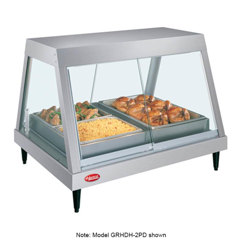 "Hatco GRHDH-4P 58.5"" Full-Service Countertop Heated Display Case w/ Straight Glass - (1) Level, 240v/1ph"