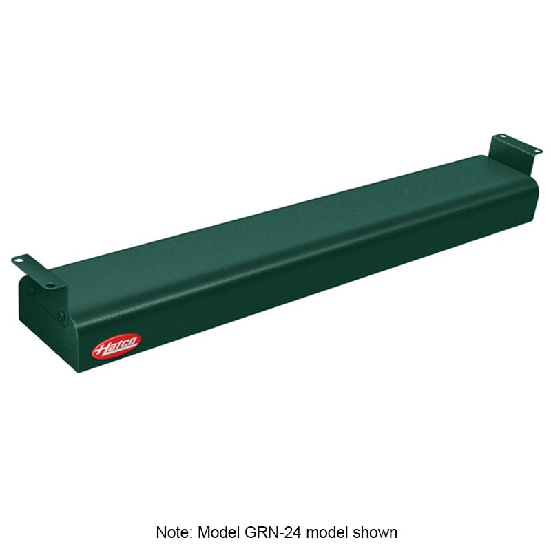 "Hatco GRN-42 42"" Narrow Infrared Foodwarmer, Hunter Green, 120 V"