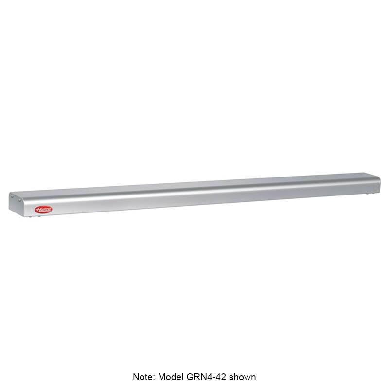 "Hatco GRN4-48 48"" Narrow Halogen Foodwarmer, Glossy Gray, 120 V"