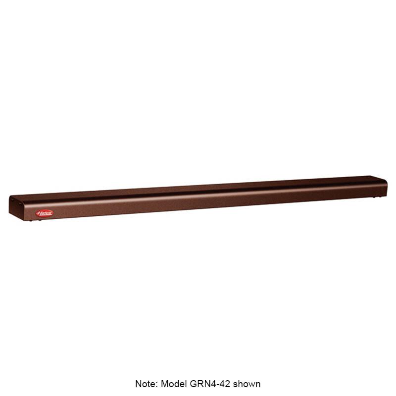 "Hatco GRN4-72 72"" Narrow Halogen Foodwarmer, Antique Copper, 120 V"