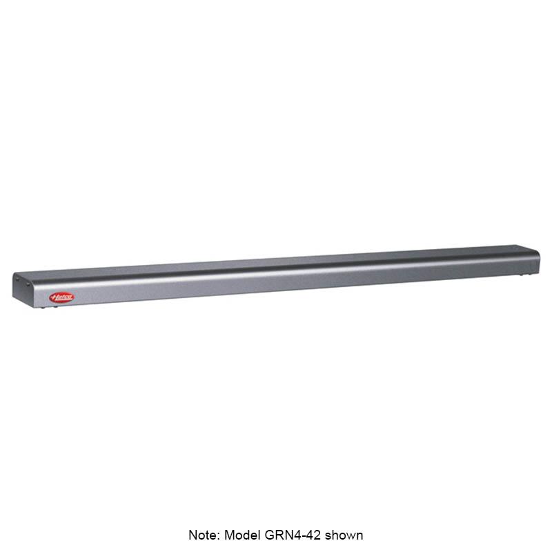 "Hatco GRN4-72 72"" Narrow Halogen Foodwarmer, Gray Granite, 120 V"