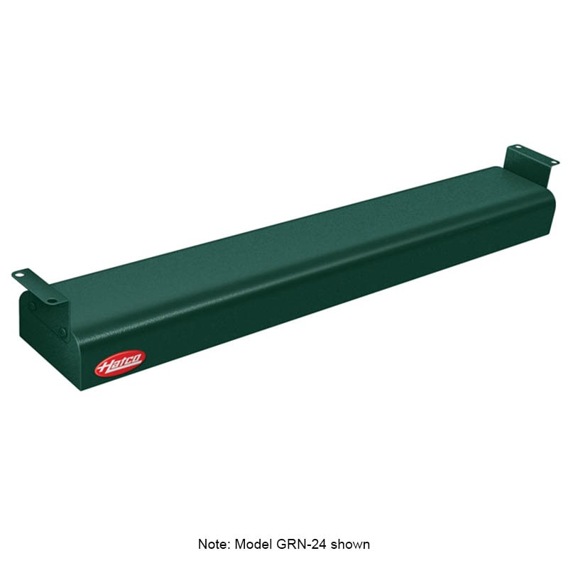 "Hatco GRN-66 66"" Narrow Infrared Foodwarmer, Hunter Green, 240 V"