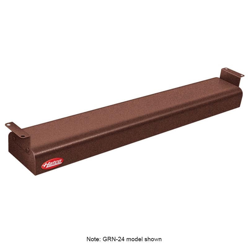 "Hatco GRNH-24 24"" Narrow Infrared Foodwarmer, High Watt, Copper, 120 V"