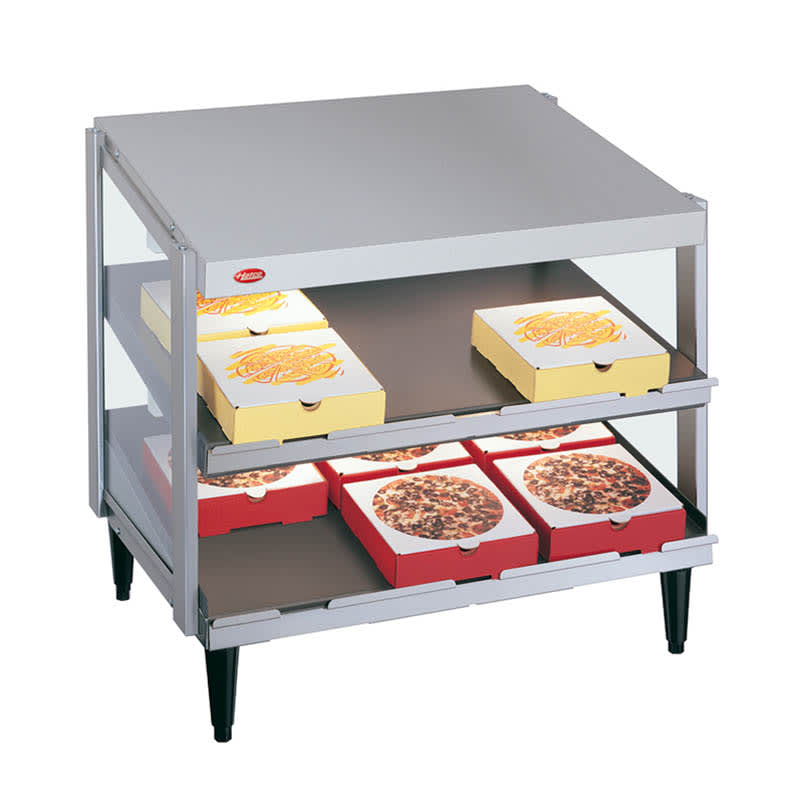 "Hatco GRPWS-2418D Pass-Thru Pizza Warmer w/ Double Slant Shelf, 24 x 18"", 120 V"