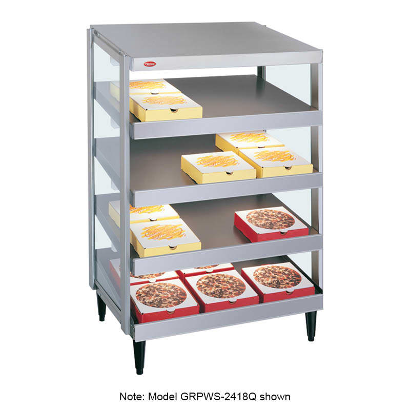 "Hatco GRPWS-2424Q Glo-Ray Pizza Warmer, Pass Thru, 4 Slant Shelf, 24"" X 24"""