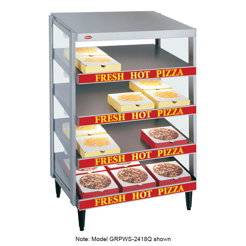"Hatco GRPWS-4818Q Glo-Ray Pizza Warmer, Pass Thru, 4 Slant Shelf, 48"" X 18"""