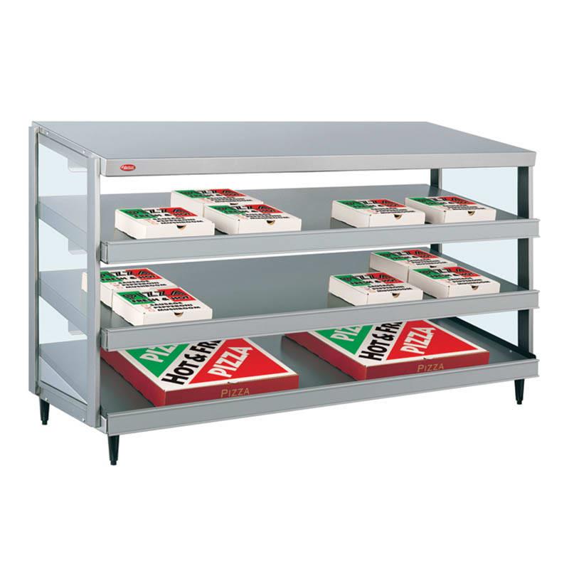 """Hatco GRPWS-4818T Glo-Ray Pizza Warmer, Pass Thru, 3 Slant Shelf, 48"""" X 18"""""""