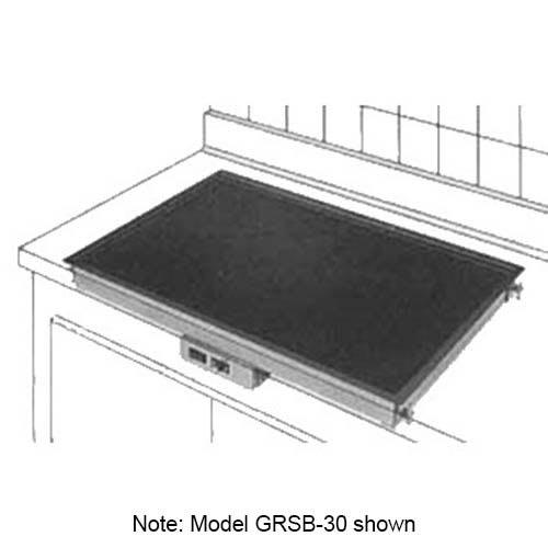 "Hatco GRSB-24-F Drop In Heated-Shelf, Recessed Top, 25.5 x 17"", 420 Watts"