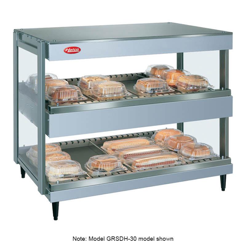 "Hatco GRSDH-24D 24"" Self-Service Countertop Heated Display Shelf - (2) Shelves, 120v"
