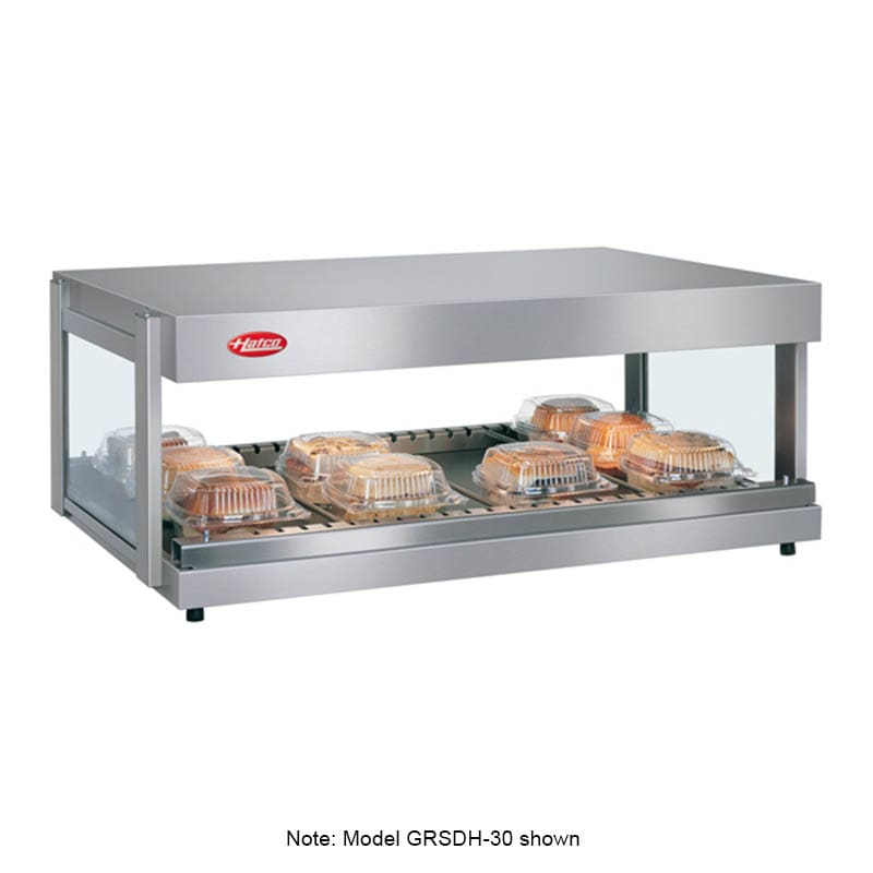 "Hatco GRSDH-30 30"" Self-Service Countertop Heated Display Shelf - (1) Shelf, 120v"