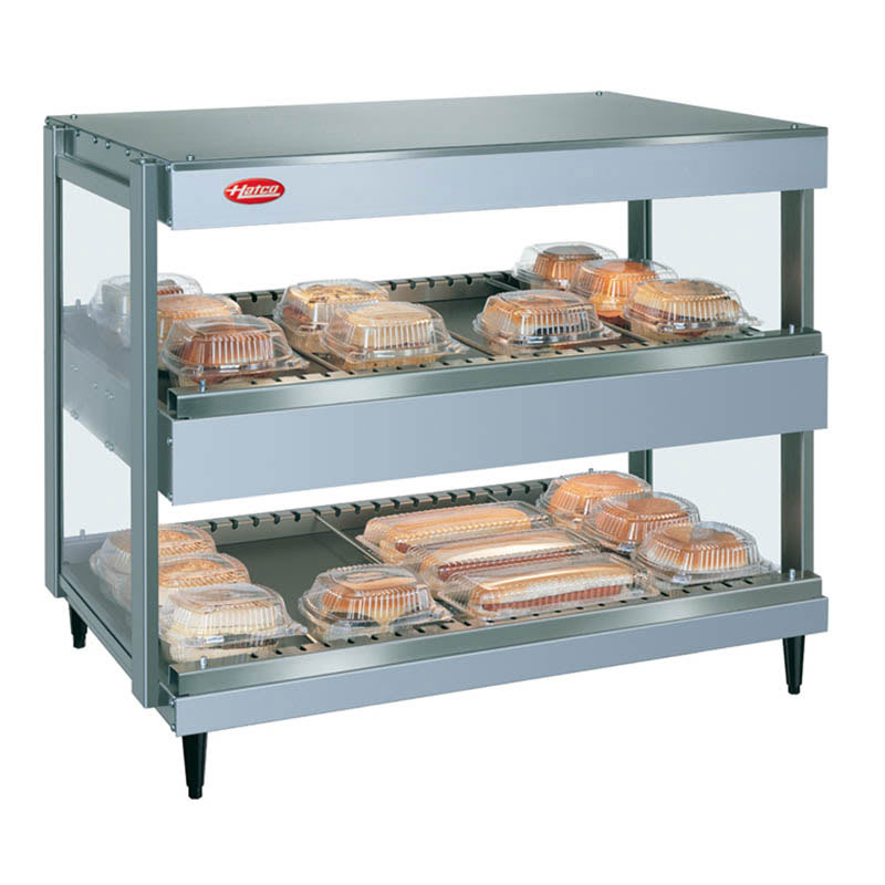 "Hatco GRSDH-30D 30"" Self-Service Countertop Heated Display Shelf - (2) Shelves, 120v"