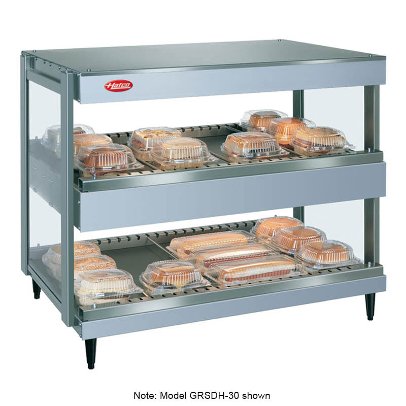 "Hatco GRSDH-52D 52"" Self-Service Countertop Heated Display Shelf - (2) Shelves, 120v"