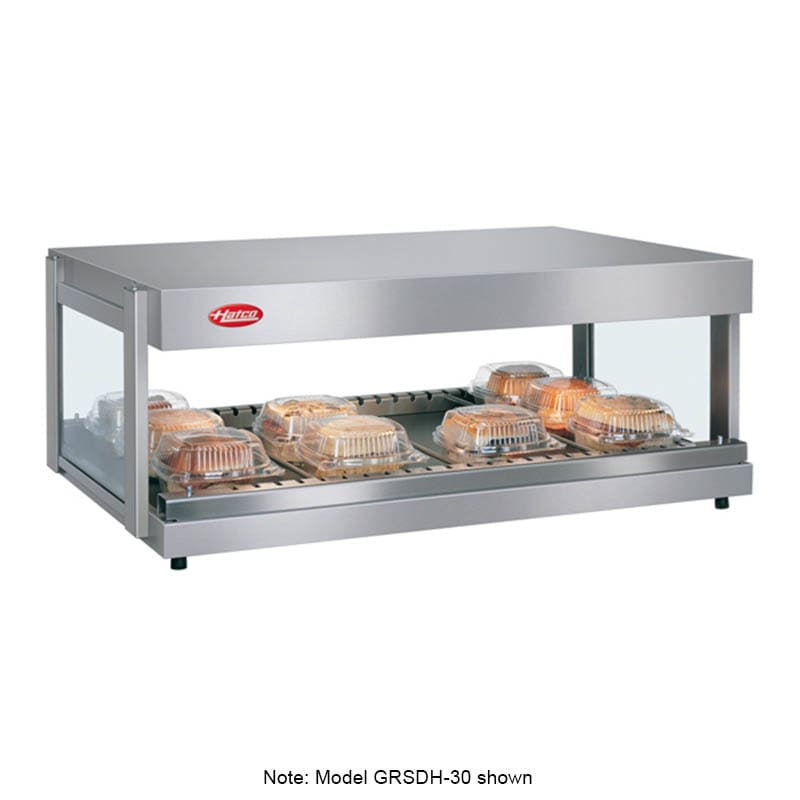 "Hatco GRSDH-60 60"" Self-Service Countertop Heated Display Shelf - (1) Shelf, 120v"