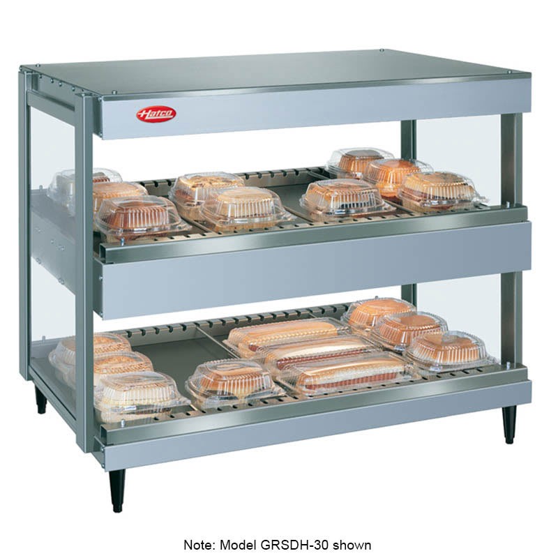 "Hatco GRSDH-60D 60"" Self-Service Countertop Heated Display Shelf - (2) Shelves, 208v/1ph"